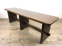 Arts & Crafts Style Oak Bench (5 of 10)