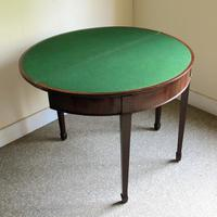 Mahogany Demi-Lune Card Table (3 of 5)