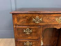 18th Century Burr Walnut Kneehole Desk (3 of 14)