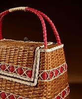 Art Deco Very Stylish Woven Wicker Willow Bag (7 of 7)