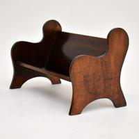 Pair of Antique Arts & Crafts Mahogany Book Trough / Stands (3 of 10)