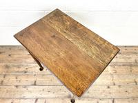 Small 18th Century Antique Oak Side Table (8 of 10)