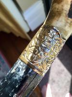 Antique Gentleman's Walking Stick with 18ct Gold Collar (3 of 8)