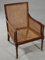 Very Good and Original Regency Period Bergère Armchair (5 of 6)