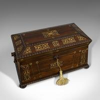 Antique Tea Caddy, English, Rosewood, Chest, Thomas of London, Regency c.1820 (2 of 12)