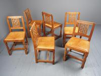 Mouseman Oak Dining Table & Set of 6 Chairs (8 of 20)
