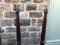Pair of Antique Mahogany Floor Standard Lamps (7 of 7)