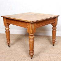 19th Century Pine Dining Table Fitted Drawer (9 of 11)