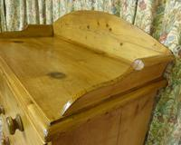 Victorian Stripped Pine Chest of Drawers with Shaped Upstand & Wooden Knobs (7 of 8)