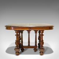 Large Antique Extending Dining Table, French, Walnut, Seats 4-10 c.1900 (10 of 12)