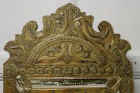 Napoleon III French Brass Cushion Mirror (6 of 7)