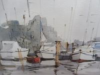 Watercolour The Moorings Listed Artist Diana Scott (8 of 10)