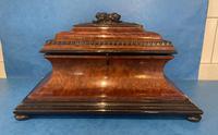 Victorian Burr Cedar & Ebony Shaped Tea Caddy (9 of 20)