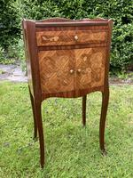 Pair of French Marquetry Bedside Tables in Kingwood (7 of 9)