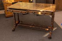 Burr Walnut Writing Table (5 of 8)