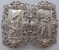 Rare Edwardian Shakespeare 1904 Hallmarked Solid Silver Nurses Belt Buckle (2 of 10)