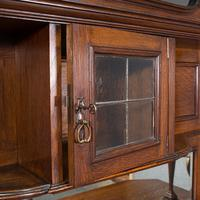 Large Antique Sideboard, English, Oak, Dresser, Cabinet, Liberty & Co, Victorian (8 of 12)