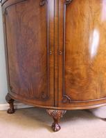 Figured Walnut Demi Lune Sideboard Side Cabinet (4 of 10)