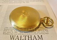 Vintage Swiss Waltham Pocket Watch 1970s 17 Jewel 12ct Gold Plated Half Hunter FWO (6 of 12)