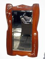 Elegant Art Nouveau Mahogany & Copper Pier Mirror (11 of 11)