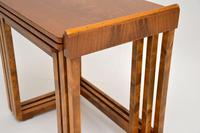 Original Art Deco Figured Walnut Nest of Tables (8 of 11)