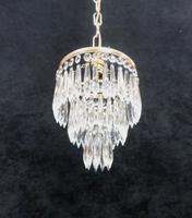 Italian  Art Deco 3 Tier Crystal Glass Chandelier (7 of 7)