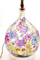 1960s Hand Painted Demi John Lamp with Floral Pattern (14 of 22)
