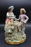 Well Modelled Late 19th Century Staffordshire Double Figure