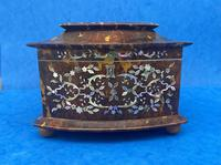 Victorian Tortoiseshell Tea Caddy with Mother of Pearl Inlay (9 of 20)