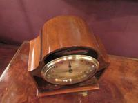 Antique Walnut Cased Chinoiserie Mantel Clock (3 of 7)
