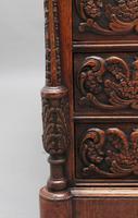 19th Century Carved Oak Partners Desk (14 of 17)