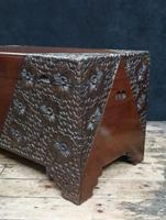 Early 20th Century Oriental Carved Teak and Camphor Wood Chest (7 of 11)