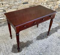 Antique Victorian Mahogany Two Drawer Side Table (3 of 20)