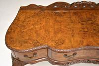 Queen Anne Style Burr Walnut Server Table c.1930 (8 of 12)
