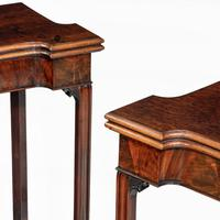 Very Fine Pair of George III Mahogany & Plum Pudding Mahogany Concertina Action Card Tables (12 of 17)