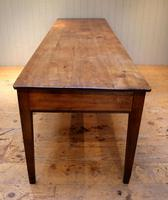 Large French Cherry Wood Farmhouse Table (3 of 9)