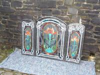 Arts & Crafts Leaded Glass Fire Screen (4 of 14)