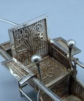Antique Chinese Export Silver - Miniature Sedan Chair (6 of 8)
