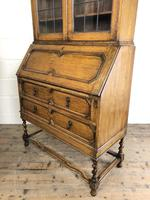 Early 20th Century Antique Oak Bureau Bookcase (13 of 17)