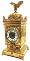 Good French Ormolu Cubed Classic 8 Day Striking Mantle Clock (11 of 11)