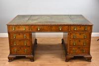 Antique Burr Walnut Partners Desk (2 of 18)
