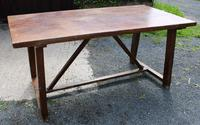 1830's Fruitwood Farmhouse Table with Stretcher (2 of 3)
