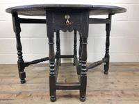 Antique 19th Century Small Oak Gateleg Table (2 of 8)