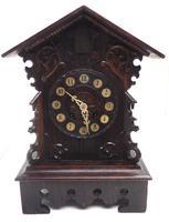 Rare Cuckoo Mantel Clock – German Black Forest Carved Bracket Clock (5 of 12)