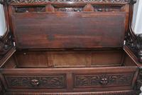 Superb Quality 19th Century Oak Box Settle (7 of 16)