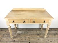 Victorian Antique Pine Two Drawer Side Table (12 of 13)