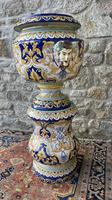 Montagnon French Majolica Jardiniere on Stand (3 of 16)