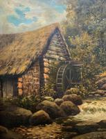 H Sinclair Jackson Superb 19th Century Watermill Landscape Oil Painting (3 of 14)