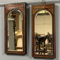 Pair of Amboyna & Ebonised Pier Mirrors (9 of 9)