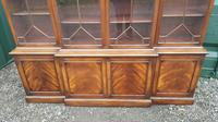 Quality Mahogany Breakfront Library Bookcase made by G T Rackstraw (4 of 6)